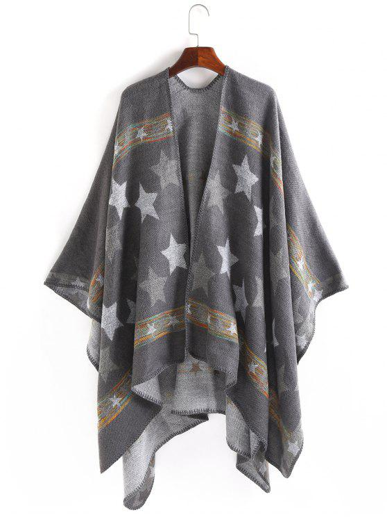 outfit Stars Pattern Thicken Pashmina - GRAY