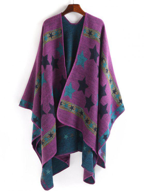 shops Stars Pattern Thicken Pashmina - PURPLE