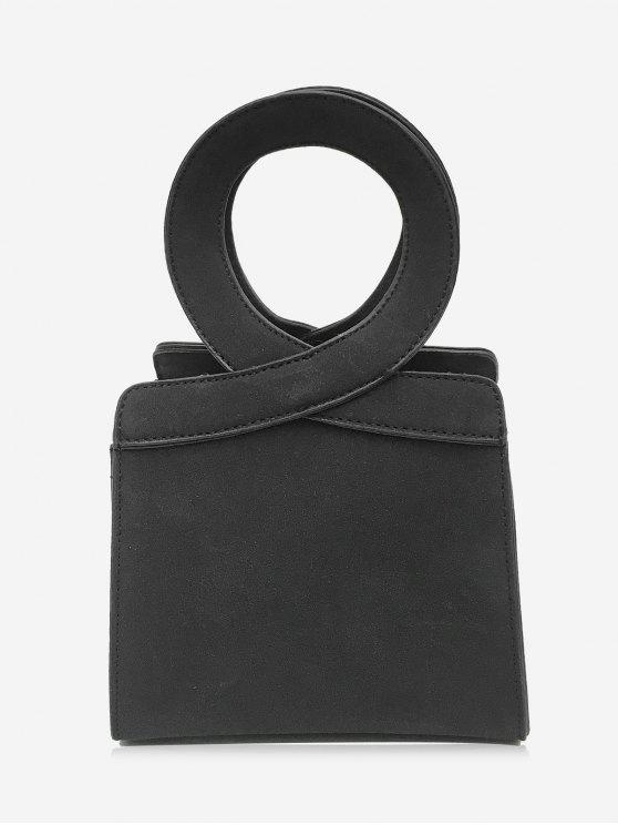Bolsa Criss Cross Faux Leather - Preto