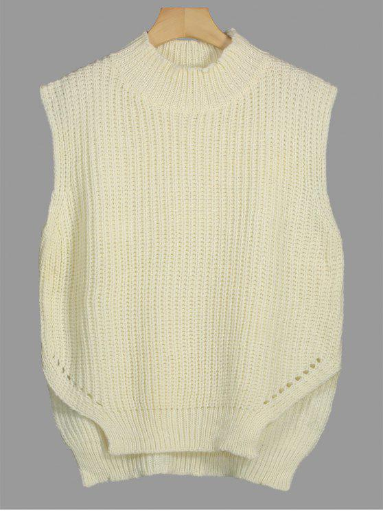 Chunky Hoher Niedriger Pullover Weste - Palomino Eine Größe