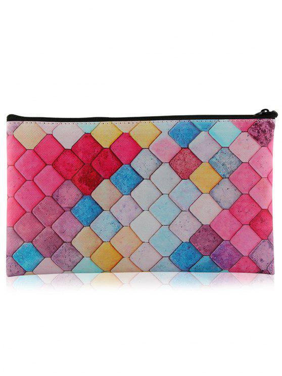 best Zipper Honeycomb Colorful Makeup Tool Bag - COLORFUL