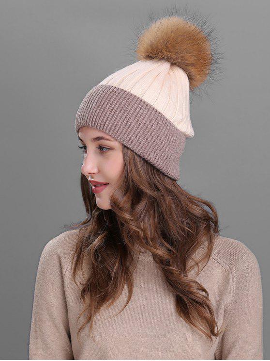 الكرة ضبابي منمق قبعة صغيرة - اللون البيج