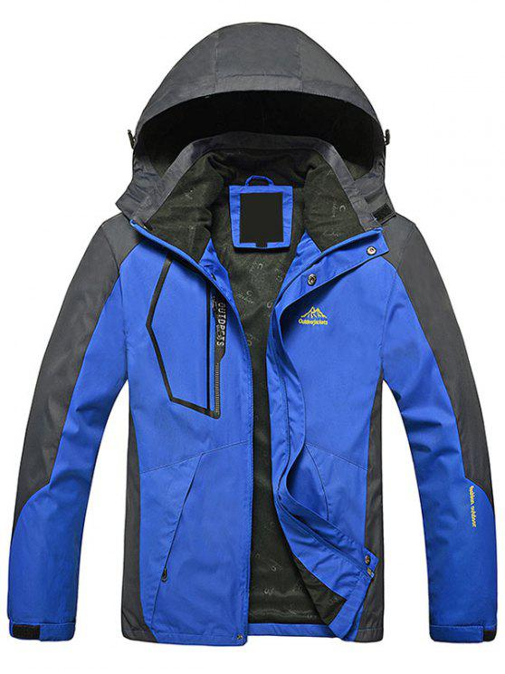 Chaqueta con cremallera color Block Wind Jacket - Azul L