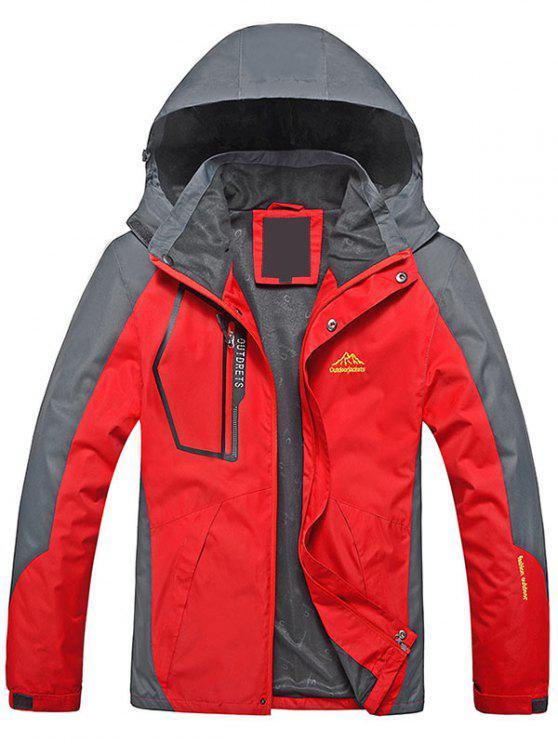 Chaqueta con cremallera color Block Wind Jacket - Rojo L