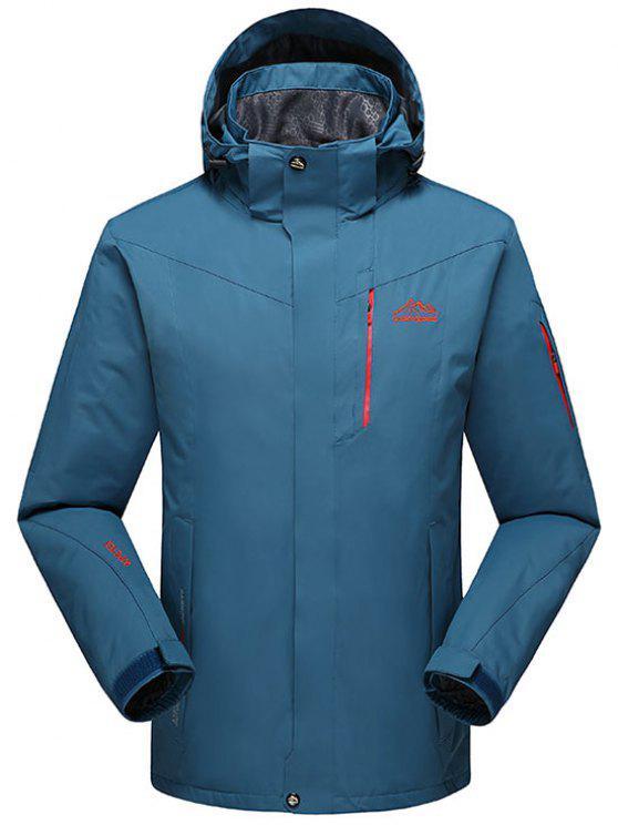 Chaqueta con capucha polar forro polar forrado - Lago Azul XL