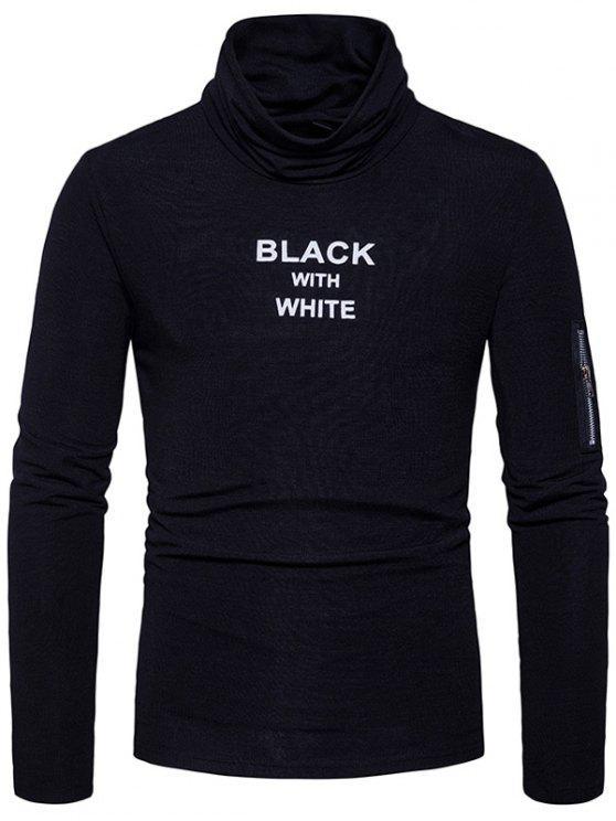 T-shirt à manches longues à capuche - Noir L