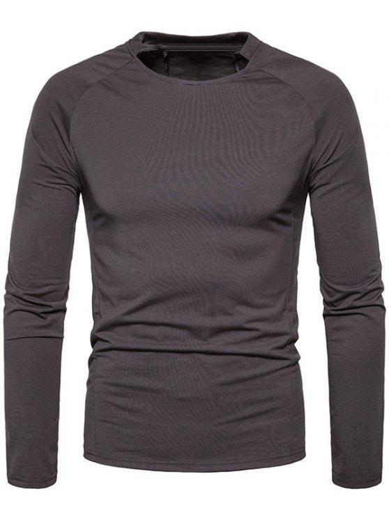 T-shirt classique à manches raglan - Gris Fer L
