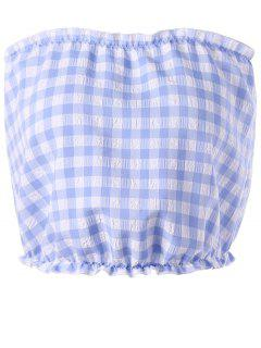 Gingham Tube Top - Blue And White S