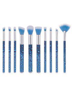 10 PCS Waterdrop Pattern Maquillage Set De Brosse - Bleu