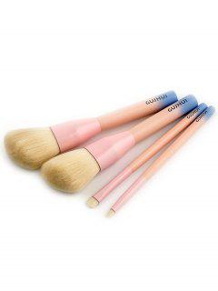 Set De Cepillo De Maquillaje PCS Three Tones - Rosado