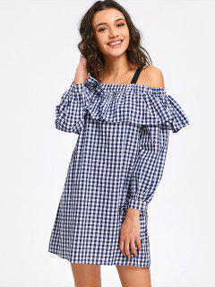 Mini-robe à Manches Longues Et épaules Dénudées - Carré M