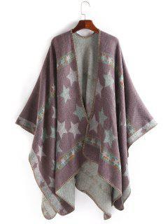 Stars Pattern Thicken Pashmina - Pinkish Purple
