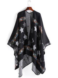 Stars Pattern Thicken Pashmina - Black