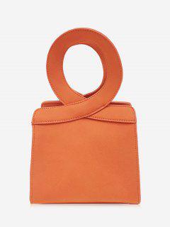 Bolso Criss Cross Faux Leather - Naranja