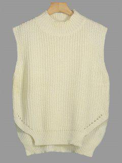 Chunky High Low Sweater Vest - Palomino