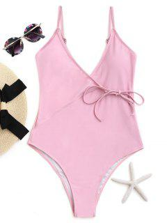 Cami High Cut Wrap Swimwear - Pink M
