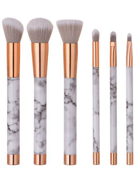 6 Piezas Patrón Mármol Conjunto Maquillaje Pincel - Blanco  Mobile
