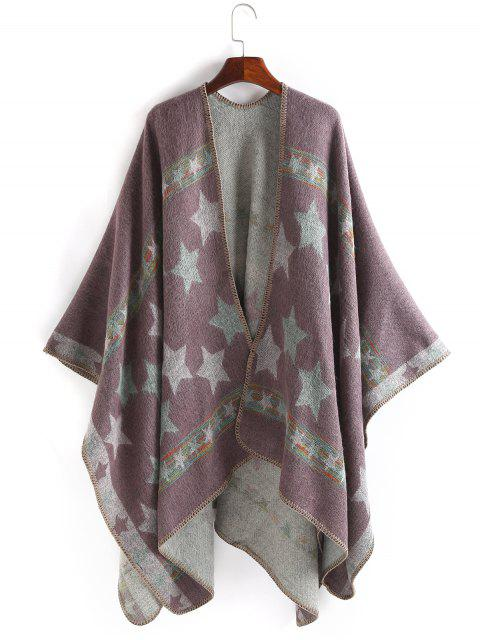 best Stars Pattern Thicken Pashmina - PINKISH PURPLE  Mobile