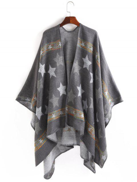 outfit Stars Pattern Thicken Pashmina - GRAY  Mobile