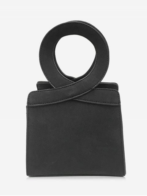 Bolso Criss Cross Faux Leather - Negro  Mobile