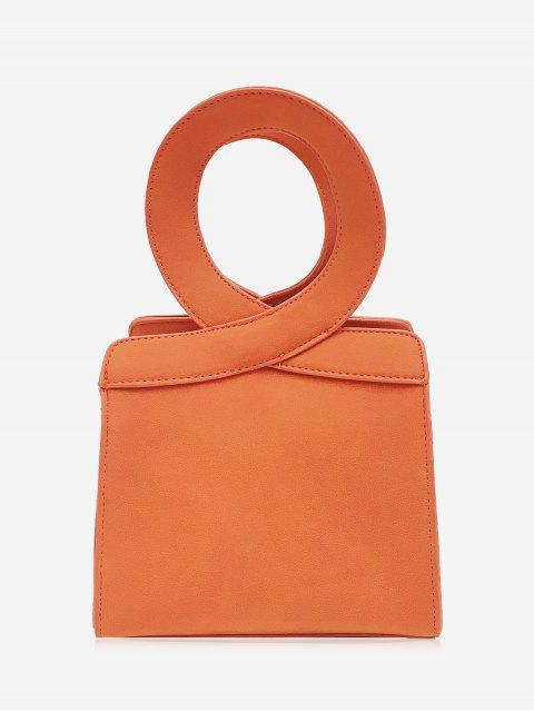 sale Criss Cross Faux Leather Handbag - ORANGE  Mobile