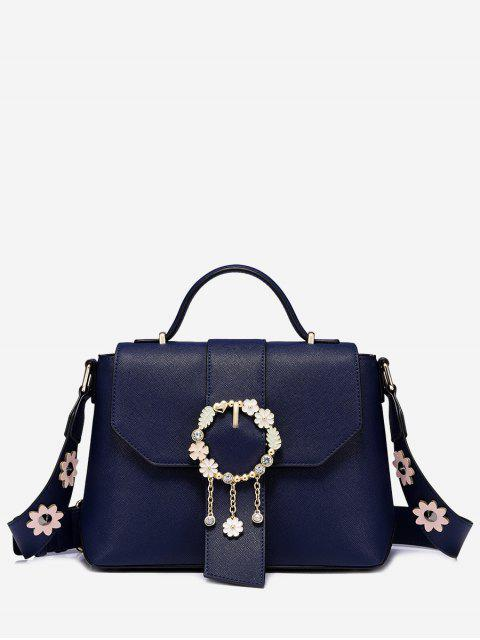 shops Flower Embellished Buckle Strap Crossbody Bag -   Mobile
