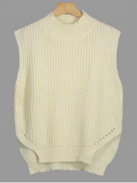 Chunky Hoher Niedriger Pullover Weste - Palomino Eine Größe Mobile