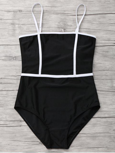 Cami Piping Traje de baño de una pieza - Negro S Mobile