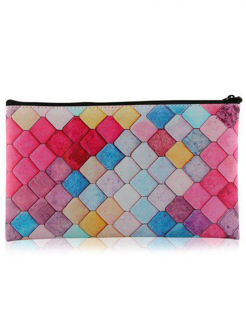best Zipper Honeycomb Colorful Makeup Tool Bag - COLORFUL  Mobile