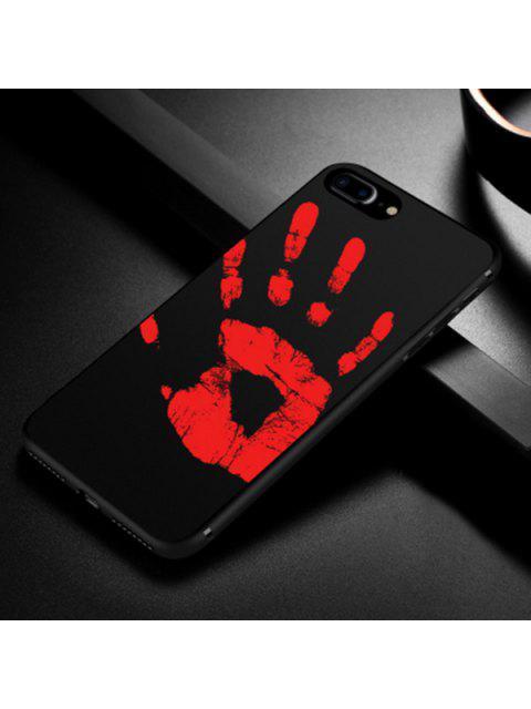 shop Heat Sensitive Soft Phone Case For Iphone - BLACK FOR IPHONE 7 PLUS/8 PLUS Mobile