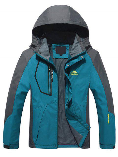 Chaqueta con cremallera color Block Wind Jacket - malaquita verde L Mobile