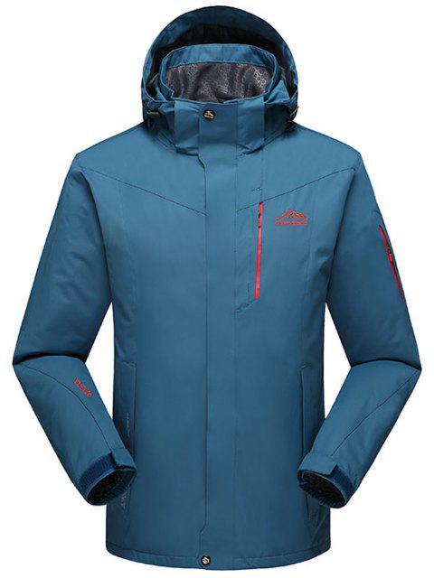 Chaqueta con capucha polar forro polar forrado - Lago Azul L Mobile