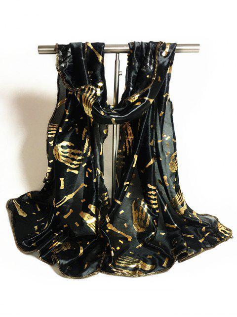 shop Gilding Halloween Scarf - BLACK  Mobile