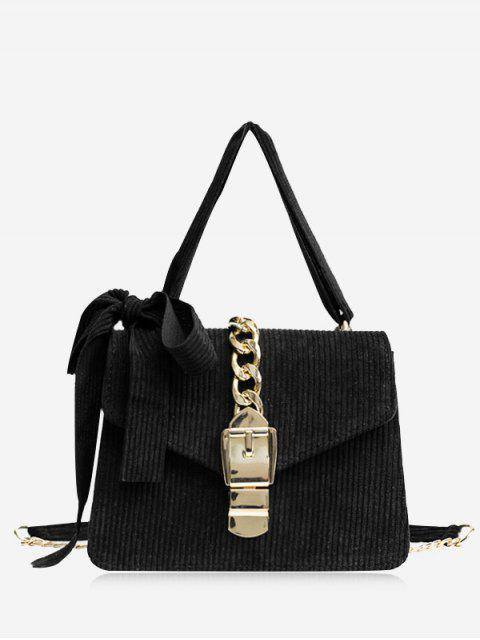 outfits Buckle Strap Bow Chain Crossbody Bag - BLACK  Mobile
