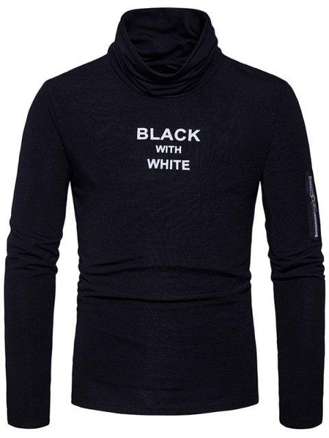 T-shirt à manches longues à capuche - Noir L Mobile