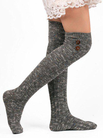 Image of Button Knitted Stockings