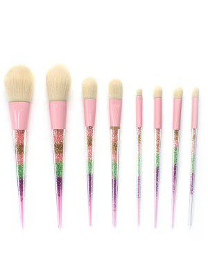 8PCS Multicolor Glitter Powder Makeup Brush Set