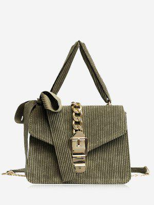 Buckle Strap Bow Chain Crossbody Bag