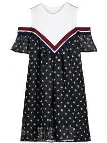 Vestido Mini Estrela De Ombro Frio - Preto M