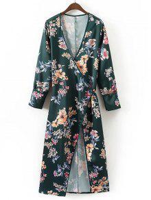 Robe Maxi à Manches Longues Et Fleurs - Floral L