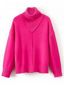 Suéter Con Cuello Redondo Jersey Con Cuello Redondo - Rosa Roja