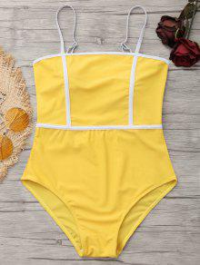 Cami Piping One Piece Swimwear - Mostarda S
