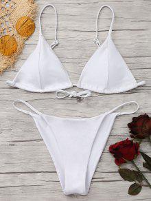 Ensemble De Bikini à Dos Tongs Cami - Blanc Xs