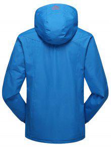 Azul Con 4xl Forro Polar Polar Capucha Forrado Chaqueta xBaZPAB