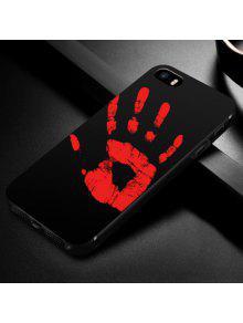 Funda De Teléfono Suave Sensible Al Calor Para Iphone - Negro Por Iphone 5 / 5s / Se