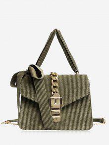 حقيبة كروسبودي مزينة بفيونكة ومشبك مع سلسلة - أخضر