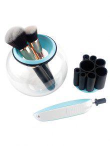 Limpiador De Pinceles De Maquillaje Eléctrico Automático De Rotación De 360 grados - Azul
