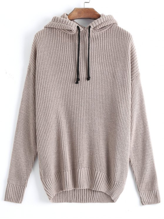 Oversized Hooded Pullover Sweater KHAKI: Sweaters ONE SIZE | ZAFUL