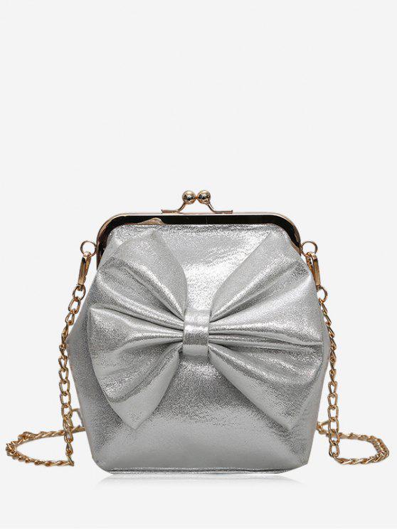 shops Bowknot Crossbody Bag - GRAY