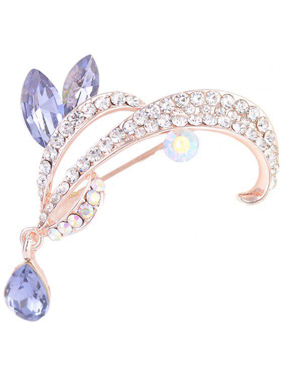 Spilla A Goccia Di Lacrima Con Diamante Artificiale - Viola